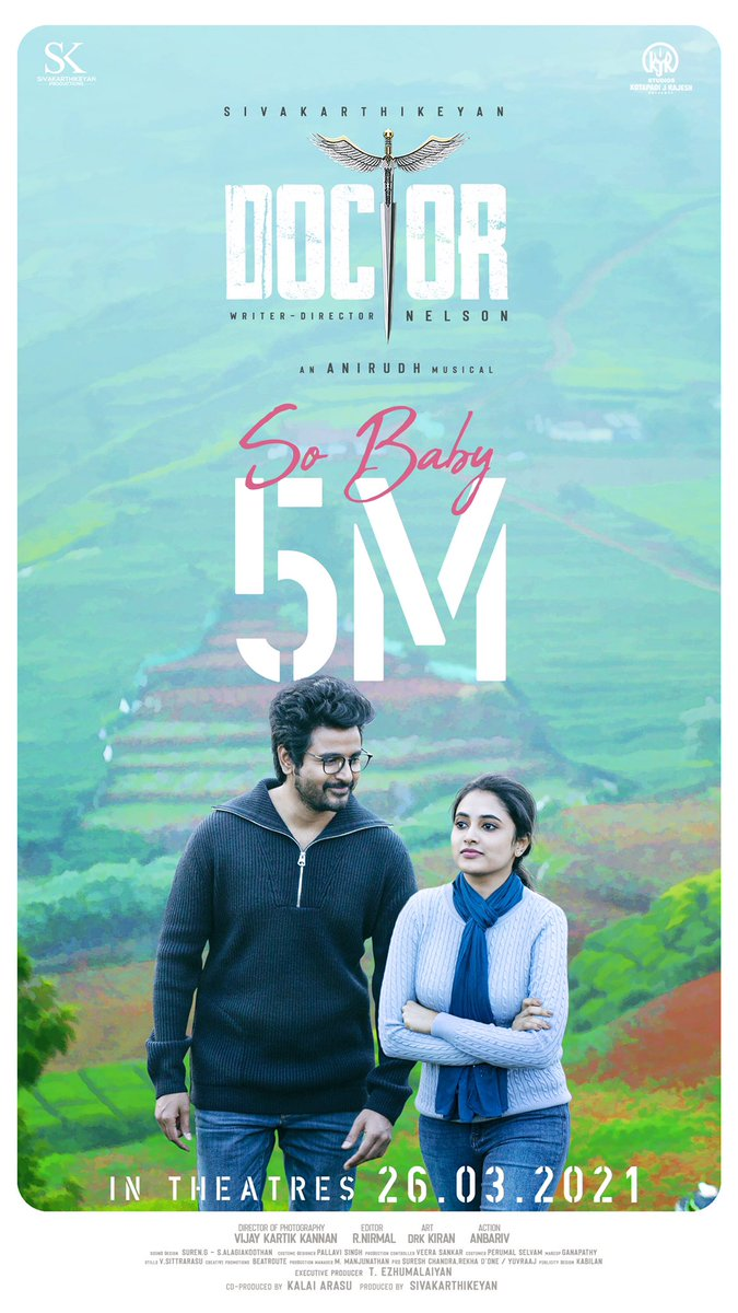 Replying to @navneth: #SoBaby just crossed 5M+ Realtime views & Trending at #1 🔥💪 #Doctor