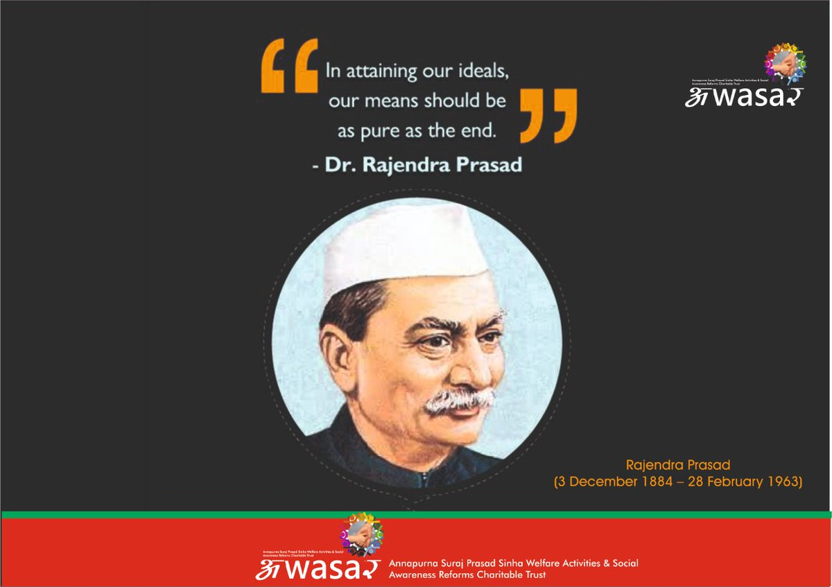 Tributes to First President of India Babu Rajendra Prasad on his death anniversary.   A leader of the Indian Independent movement and politician, the contributions of Dr. Prasad are innumerable.  #rajendraprasad  #presidentofindia  #freedomfighter