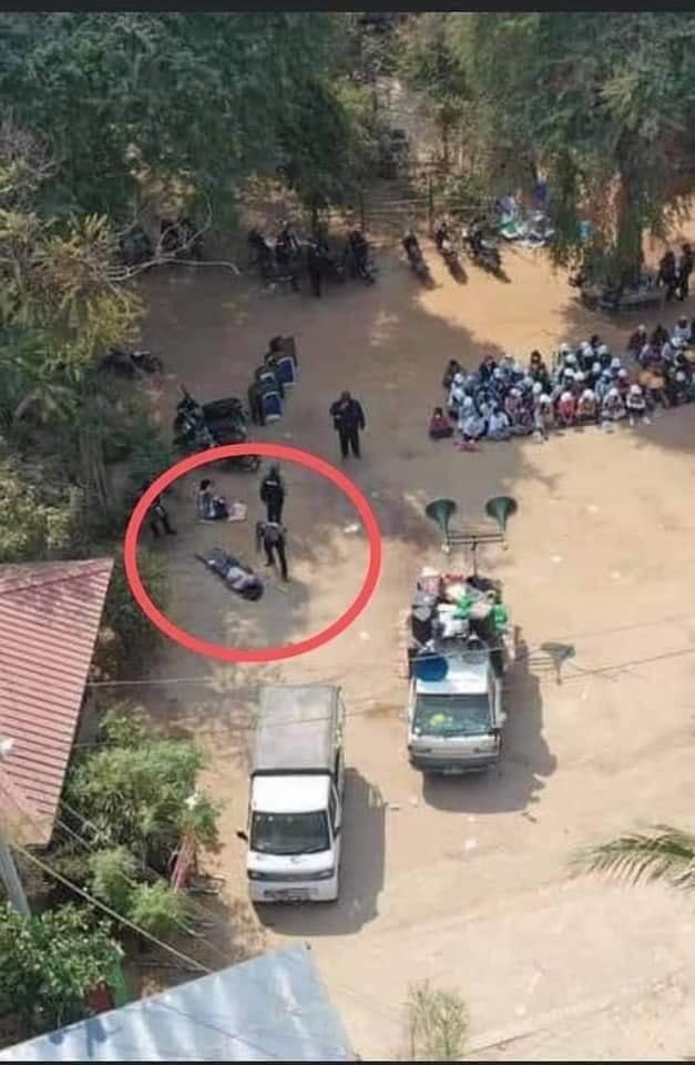 Today, doctor Myat Thu Zar Khin dead by military gun shot at Monywa Township, Myanmar. #WhatsHappeninglnMyanmar #Feb27Coup