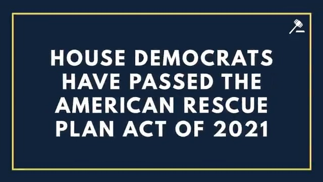 We told the American people that help was on the way – and @HouseDemocrats kept our promise by passing the #AmericanRescuePlan Act of 2021.