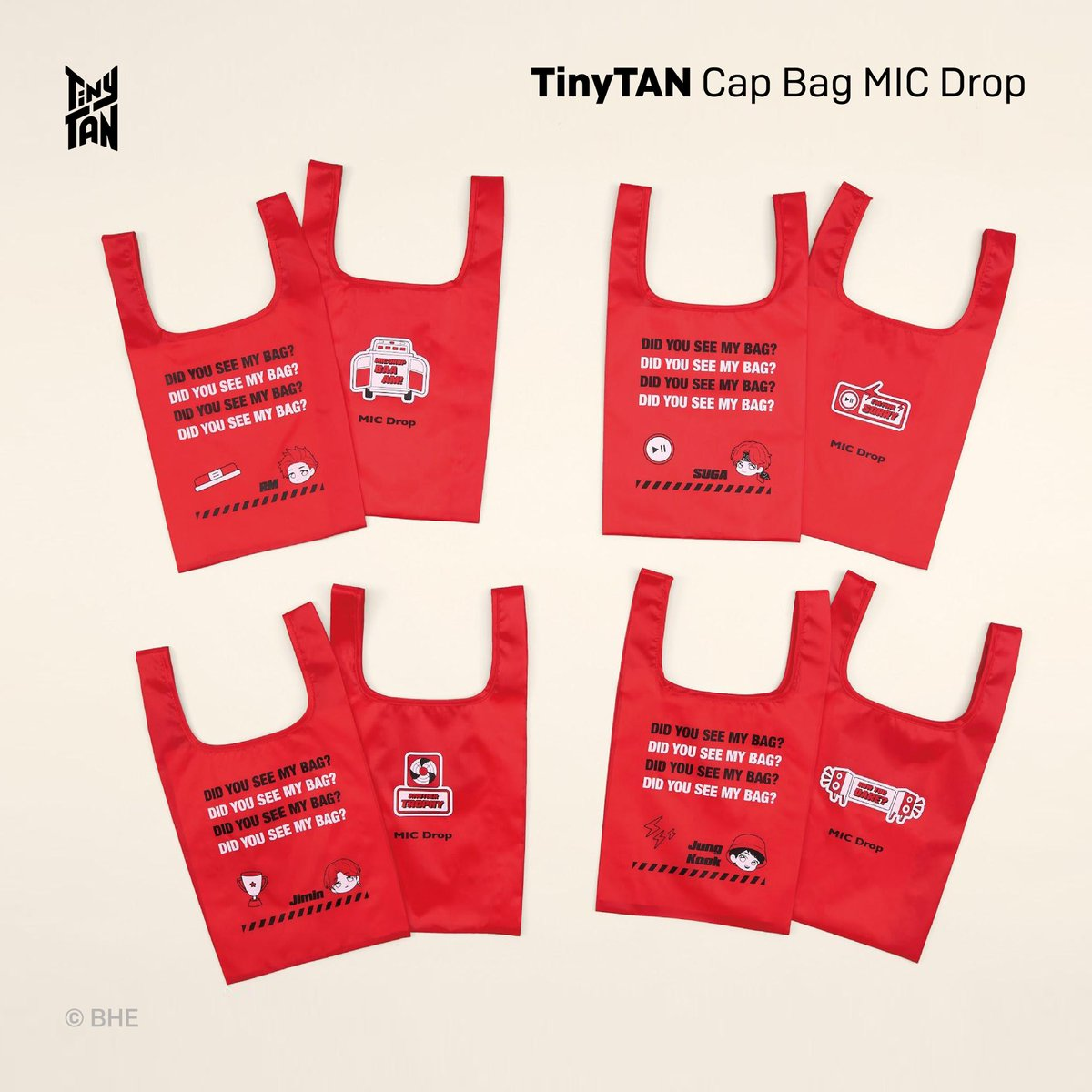 [February 2021] Newly Launched Licensed Products! TinyTAN @tartsPR Cap Bags available in Japan