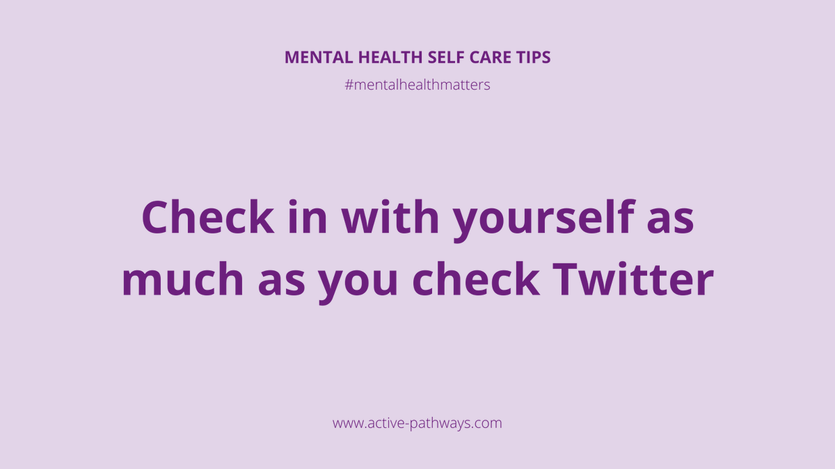 Check in with yourself as much as you check Twitter 📴 #occupationaltherapy #rehabilitation #rehab #mentalhealth #mentalhealthmatters #mentalhealthadvocate #dailymotivation #mentalhealthrecovery #keyworkers #recovery
