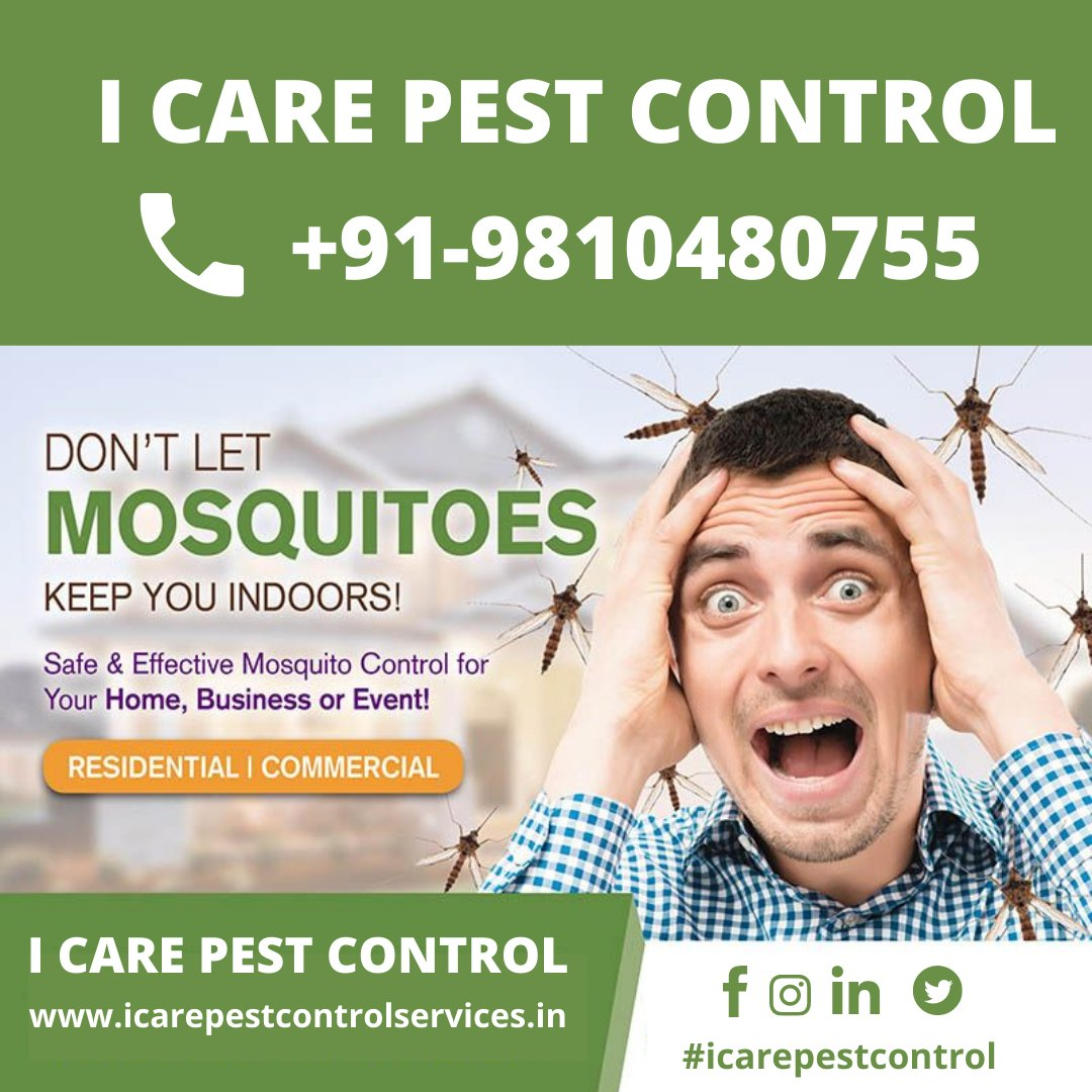 DON'T LET MOSQUITOES KEEP YOU INDOORS! Contact Us  Call/WhatsApp:-9810480755 I Care Pest Control  #rat #control #icarepestcontrol #newyear2021 #off #uttamnager #dmfororders #DMfordetails #dmforinfo