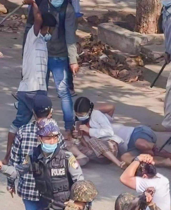 Respect Women !!! This is crime against humanity . RIP to Dr.Myat Thuzar Khin who was killed by security forces who used live bullets to disperse peaceful demonstrators.  #Feb27Coup  #WhatsHappeninglnMyanmar  #PoliceBrutality #CrimeAgainstHumanity