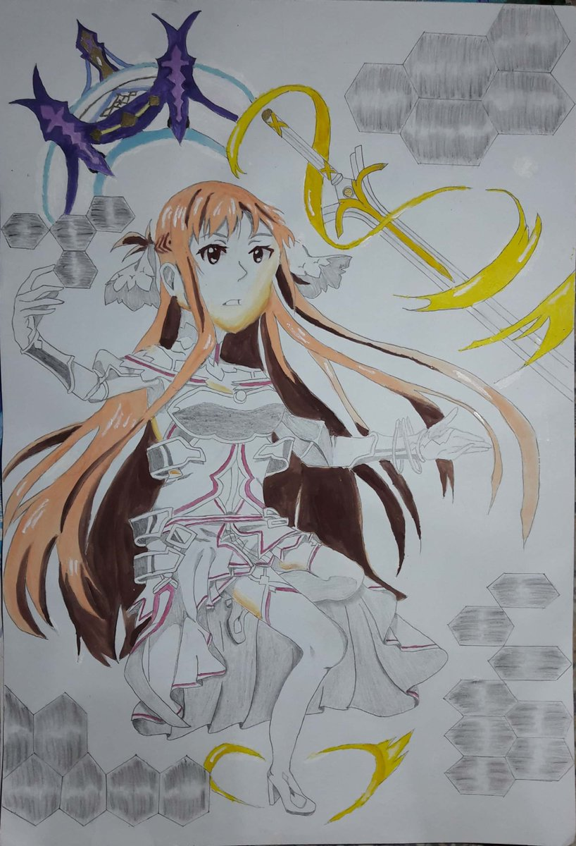 it's been a while since I update my draw...  made this for the SNMPTN porto #SwordArtOnline #Asuna #drawing #ArtistOnTwitter #artwork #draw @CmsnArtist_Id