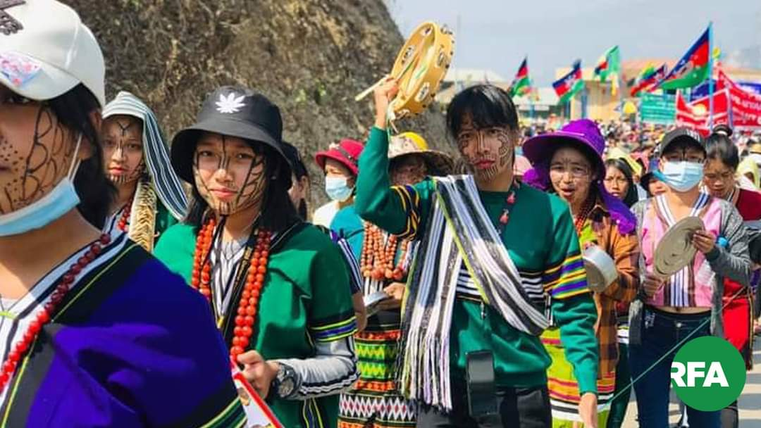 #WhatsHappeningInMyanmar  #Feb27Coup  In Kachin State, Peaceful protesting🙂