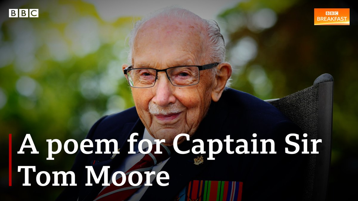 Captain Sir Tom Moore, we salute you.  These four performers wrote this poem in memory of the veteran whose funeral is later today. 💖