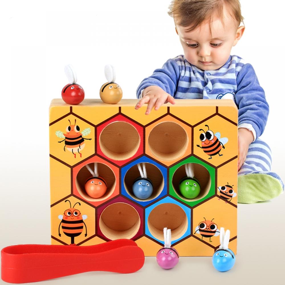 #gamer #tagsforlikes Montessori Intellectual Development Bee Shape Wooden Blocks Toy