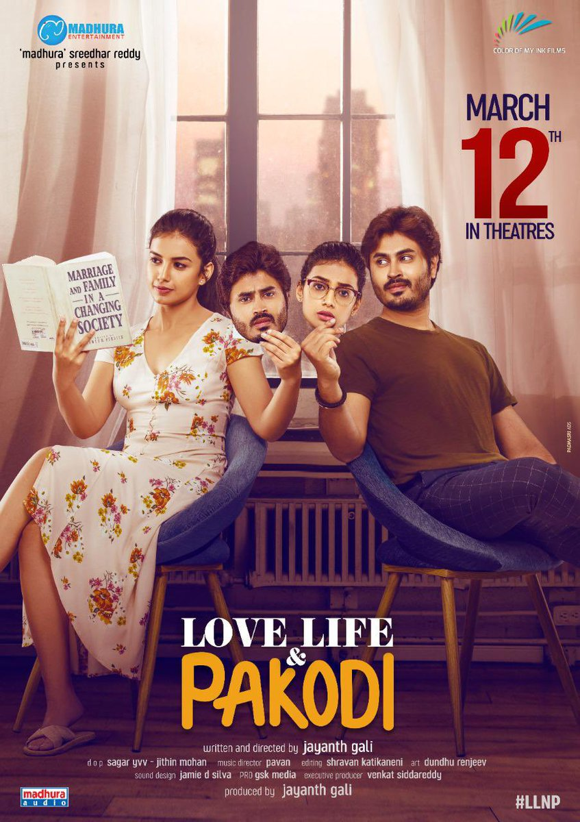 Love Life And Pakodi ft. Bimal Kartheek Rebba, Sanchitha Poonacha and Krishna Hebbale in prominent roles and directed by Jayanth Gali to release on this March 12th. #LoveLifeAndPakodi