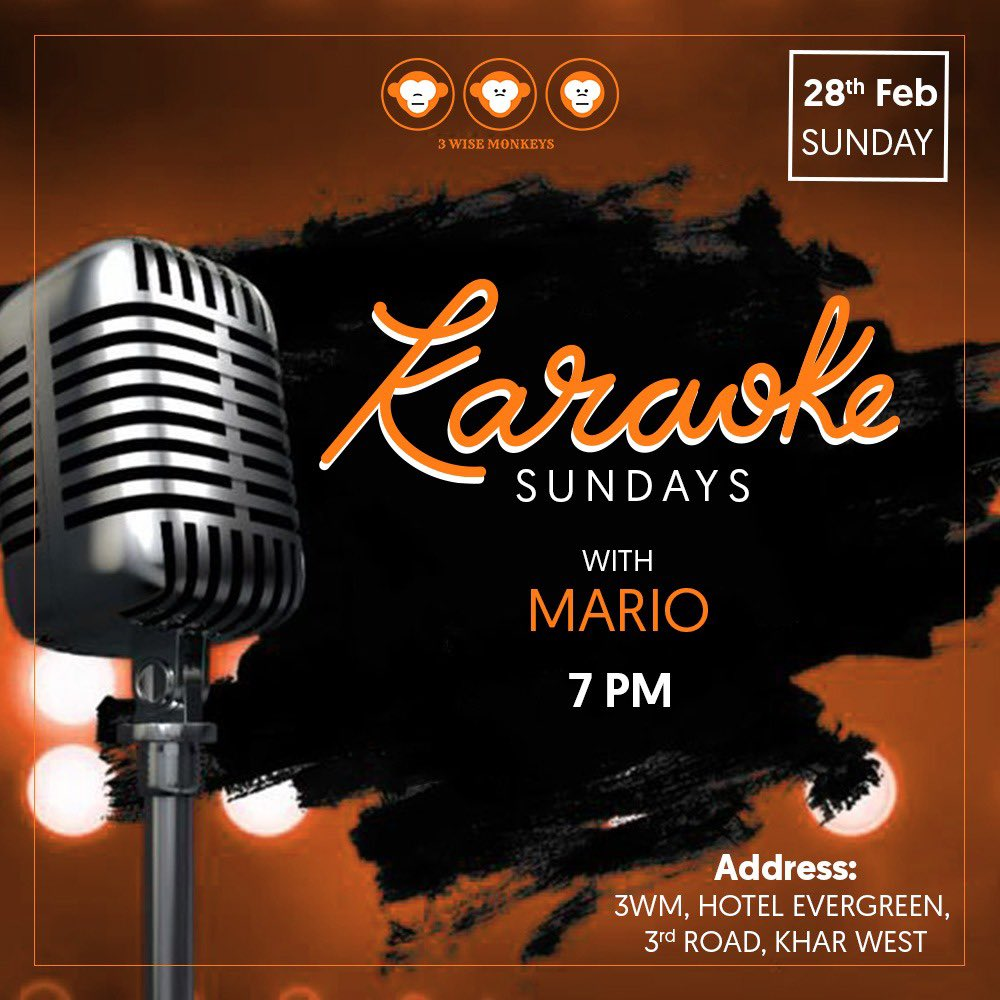 Sing your heart out at our Karaoke Sundays! 🎤 - 3 Wise Monkeys, Khar Call/DM us to book your spots now! 🥂  #karaoke #karaokenight #karaokesundays #sunday #sundayfunday #3wisemonkeys #sundayvibes #weekend #weekendvibes #goodvibes #goodtimes