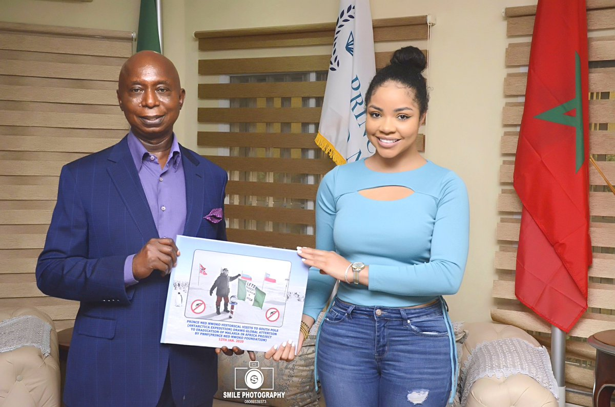 Reality Star @nengiofficial pays @Prince_NedNwoko a courtesy visit, endorses the Malaria Project.  #nednwokomalariaproject
