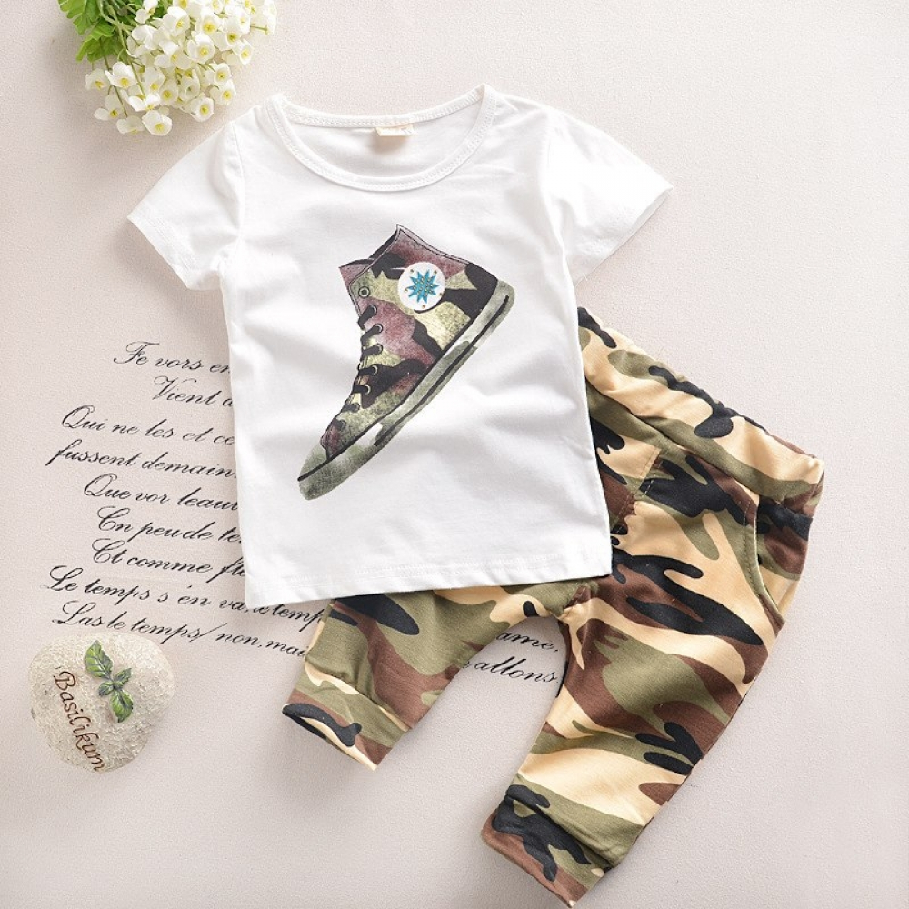 #play #tagsforlikes Fashion Military Cotton Boy's Clothing Set