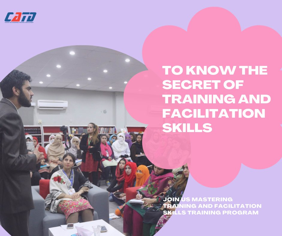 To know more about training and facilitation skills, then join us Mastering Training and Facilitation Skills. For registration please click on the link:  #CATD #impact #Training #careerbuilding #Capacitybuilding #growth #Joinus #online #joinus