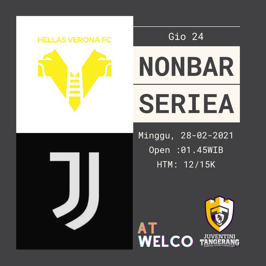 KOPDAR PEJUANG NONBAR  Nonbar Serie A   #VeronaJuve  #ForzaJuve  #FinoAllaFine  #juventinitangerang
