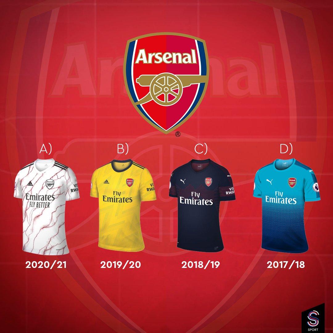 #Arsenal'ın son 4 sezondaki deplasman formalarından en beğendiğin hangisi? #PremierLeague