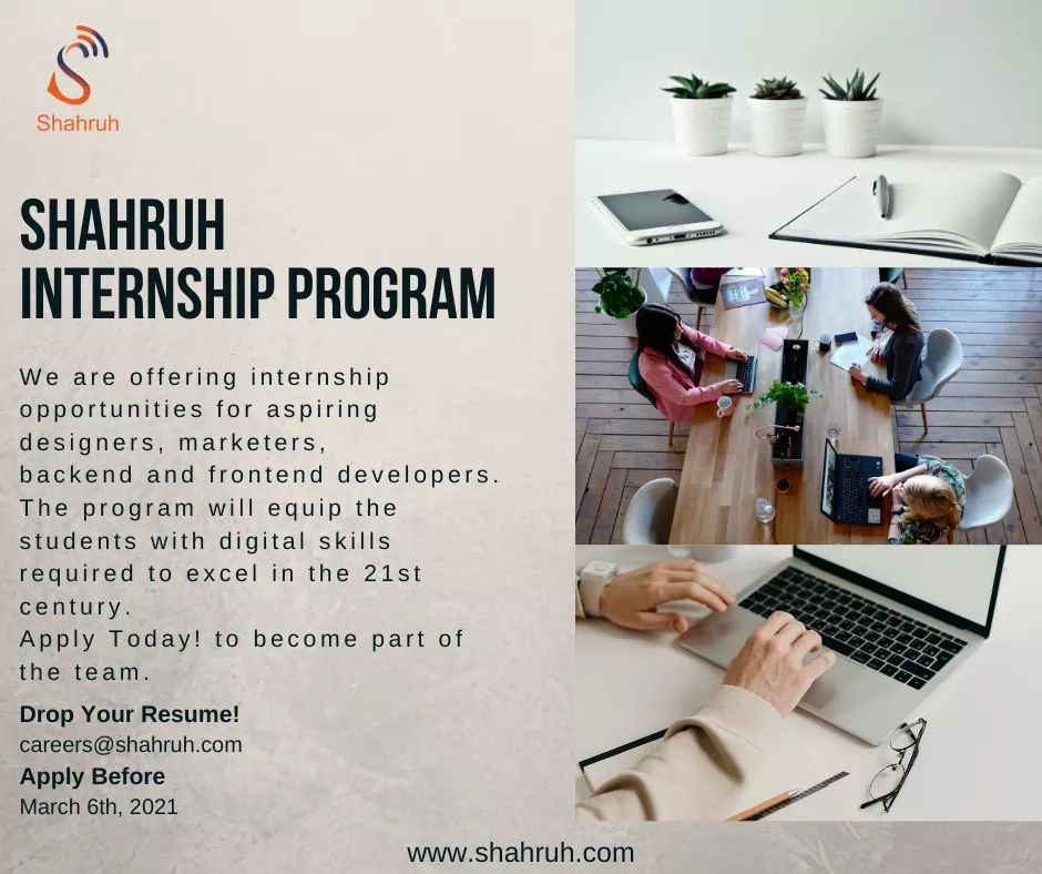 We are pleased to announce our internship program for aspiring designers, marketers, backend and frontend developers. The program will equip the participants with skills required to excel in local and international IT industry. Linked:  #applynow