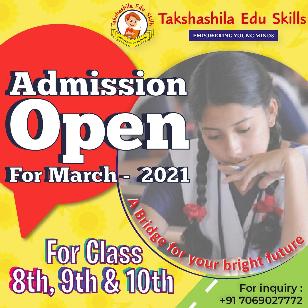 Admission Open Now !  Contact us: +91-7069027772 . #academy #training #takshashila #education #student #preschool #child #children #activity #practical #passion #courses #learn #kids #skills #playcentre
