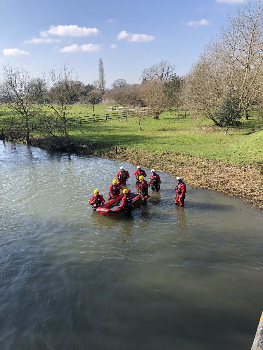 Today our water team are training in the Rover Stour in Wye. It is vital our teams continue training and are providing negative lateral flow tests at the start of each session.  #training #watersafety #stour #riverstour #wye #kenttogether #wateraware
