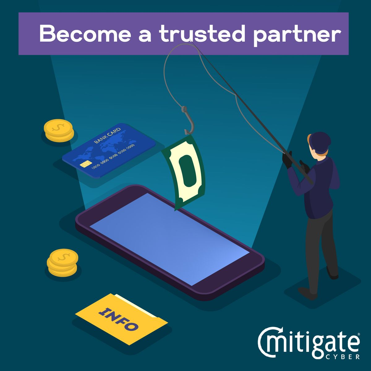 Become a #trustedpartner of #MitigateCyber and you'll be able to add value to all of your clients.  Through #ongoingsupport and #training from our team to yours, direct access to our #specialistteam and your own dedicated account manager.   Visit our website to know  more