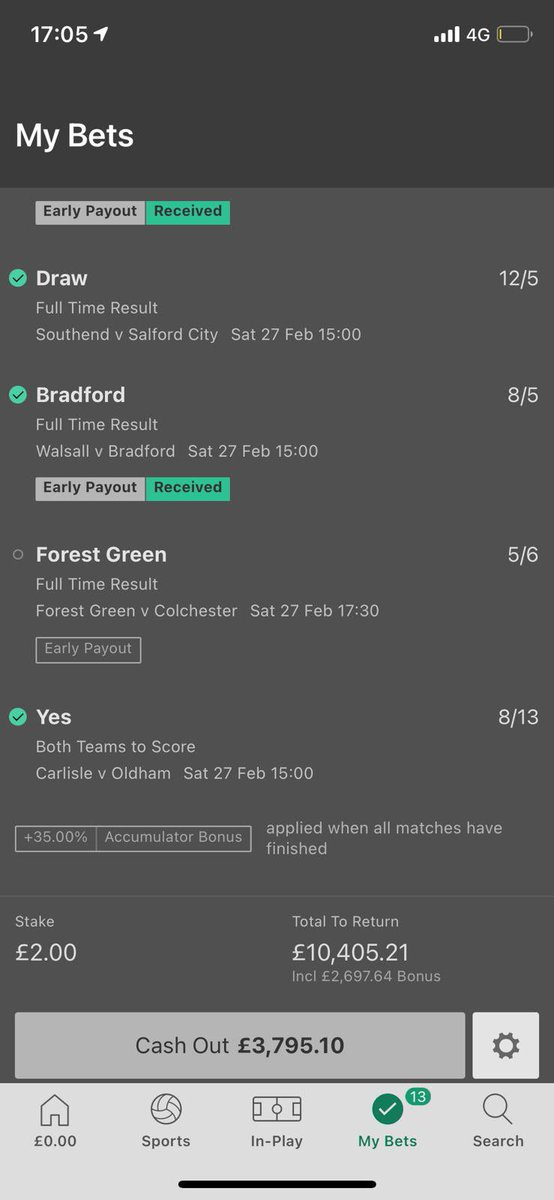 A monster of a bet from @LukeBradford_   What would you do? 🤔