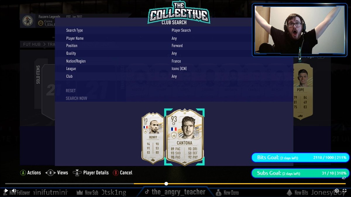 Another great stream today! THANK YOU FOR THE SUPPORT Shorter than I anticipated due to forgetting to register for WL  BUT LOOK WHO WE PACKEDDDD!!!! PRIME CANTONAAA from a mid/prime icon pack! The pack luck finally changed!!  #fifa21 #SupportSmallStreamers #fut21 #twitchstreamer