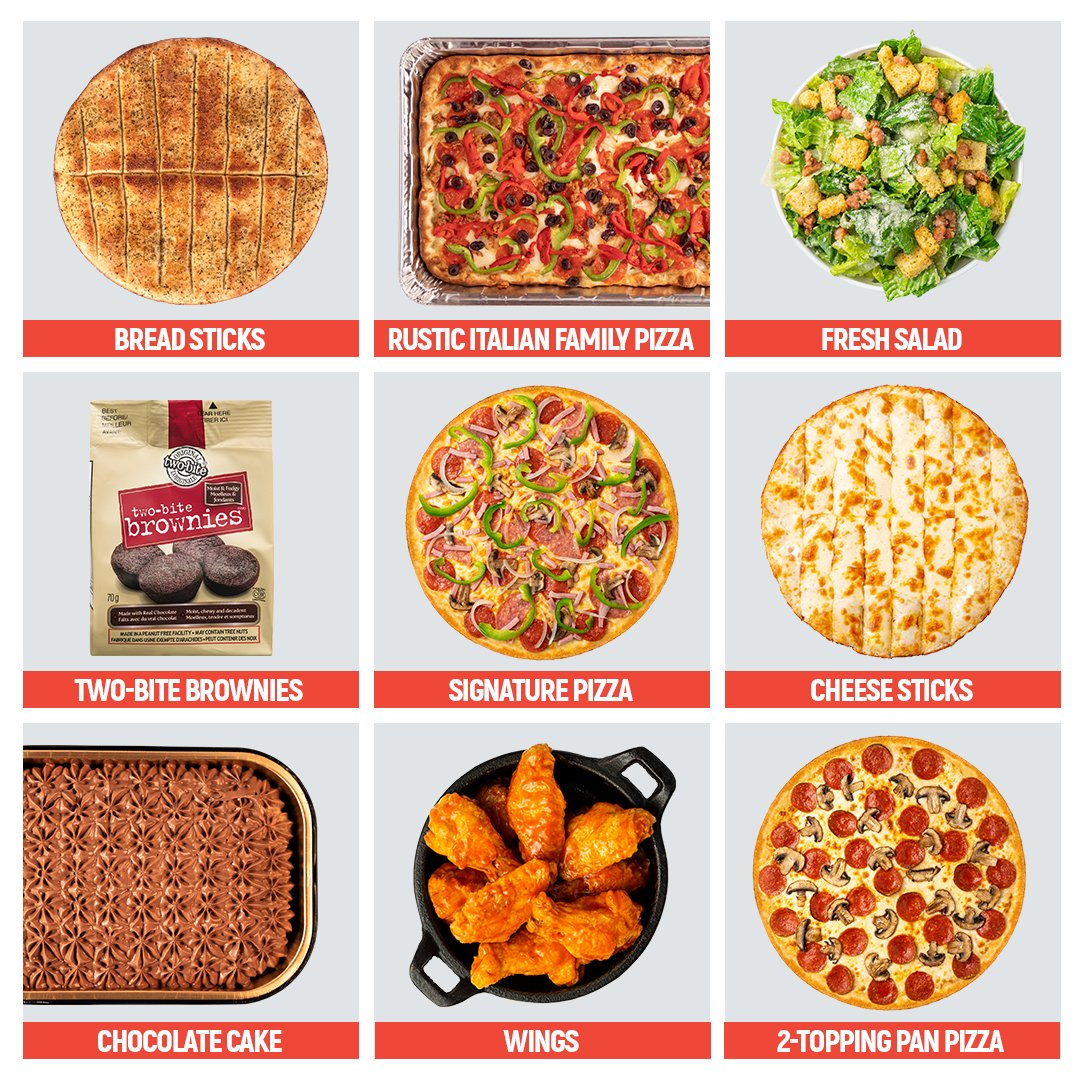 You can only pick three. What are you grabbing? #PizzaHotline #SaucyLittleNumber #2222222