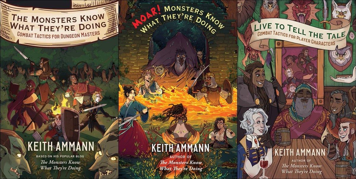 """Keith Ammann on Twitter: """"Happy #SelfPromoSaturday! I write books for #DnD  5E DMs and players: The Monsters Know What They're Doing: Combat Tactics for  Dungeon Masters, Live to Tell the Tale: Combat"""