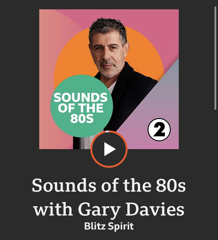 "#SoundsOfThe80s with @djgarydavies @BBCRadio2 @BBCSounds ...THREE shows for the price of one! THE MAIN SHOW: Every Friday at 8pm - ""no other 80s show sounds like THIS!"" 🎉 bbc.co.uk/sounds/play/m0…"
