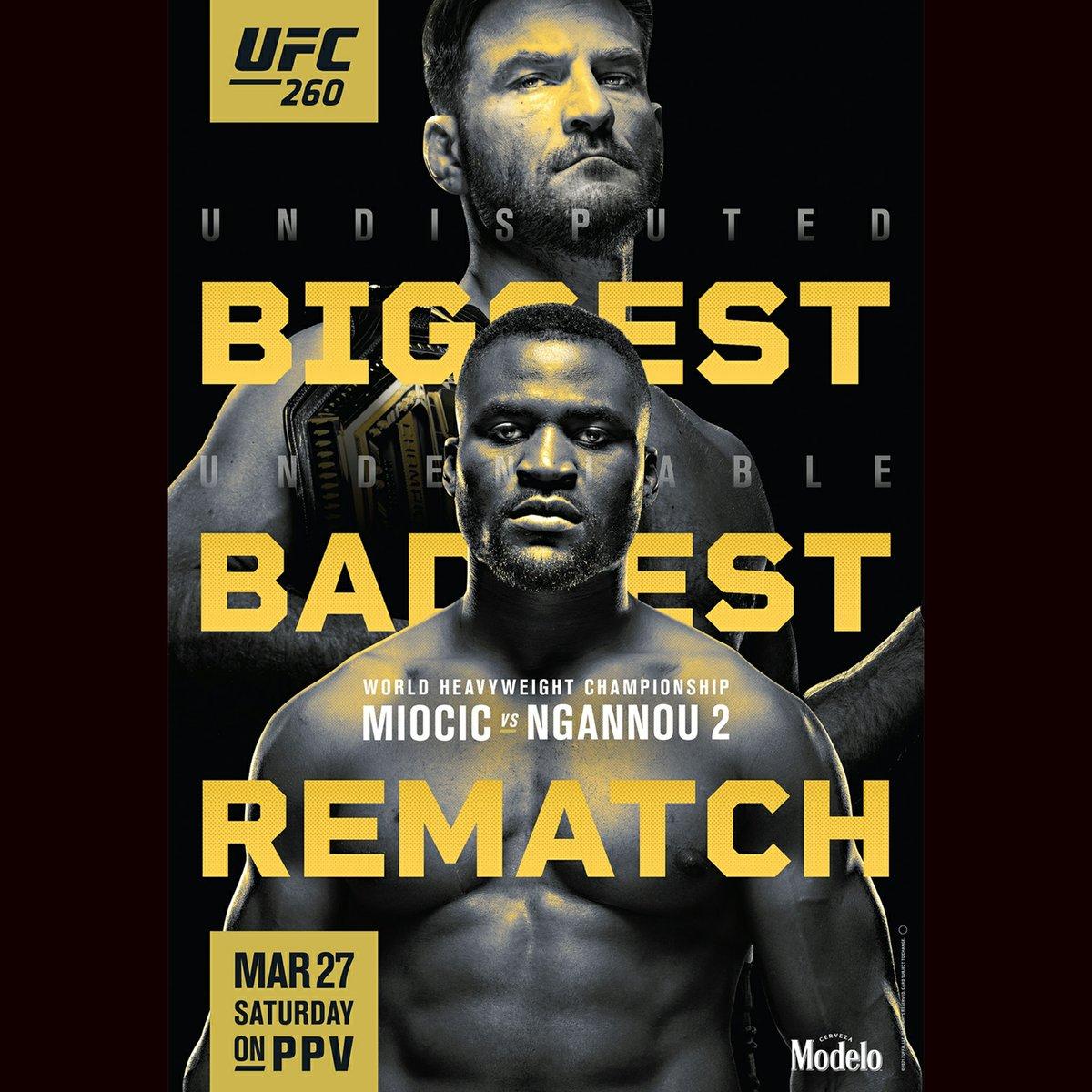 UFC 260 Poster  🇺🇲🥊 Good Luck, Stay Safe #ufc #ufcapex #ufc260 #mma #kickboxing #wrestling #bjj #jiujitsu #espn #miocicvsngannou2 #andnew #andstill