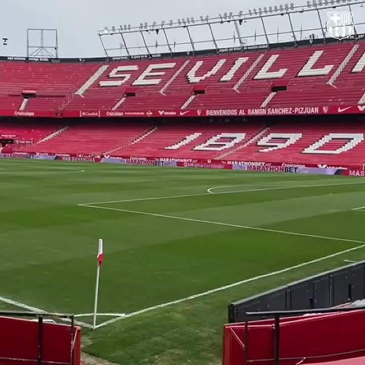 📍 Estadio Sánchez-Pizjuán   #SevillaBarça https://t.co/19eSPPv4Wd