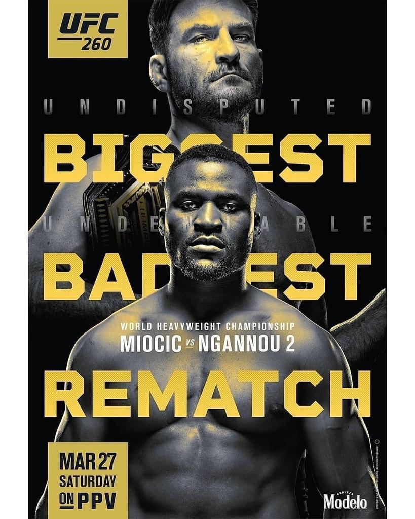 Gaat het @francisngannou dit keer wel lukken de titel te pakken?👇  #UFC260
