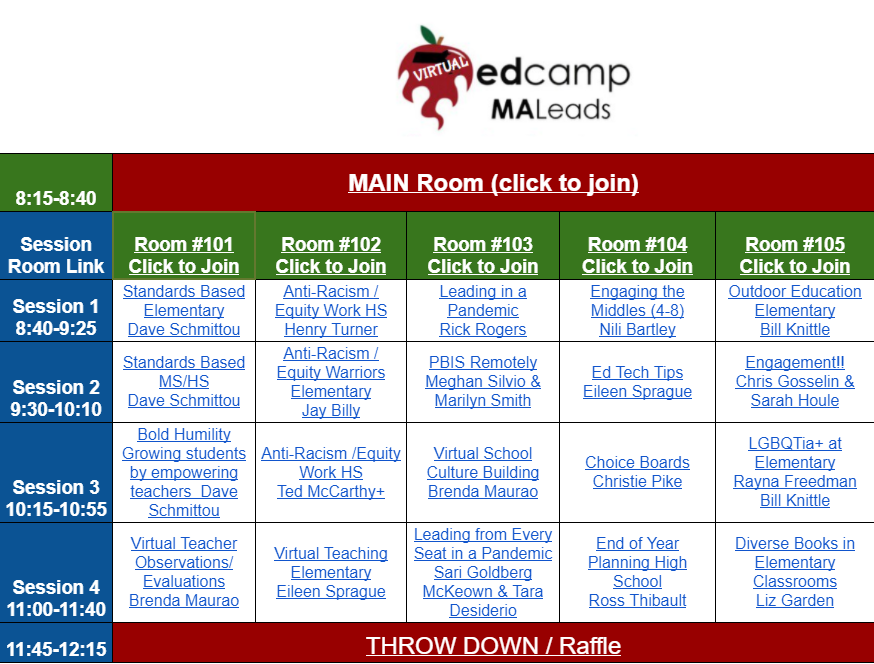 Talk about a buffet of amazing conversations #EdCampMaLeads