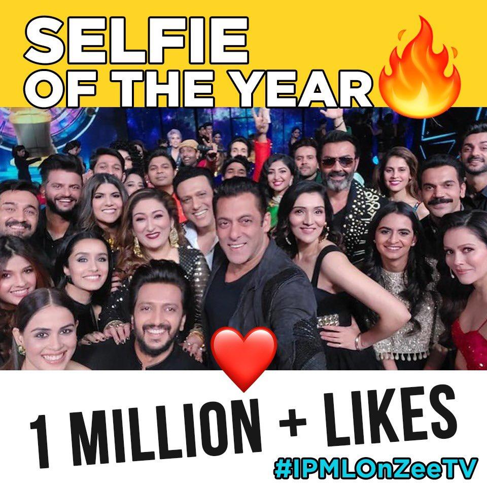 Selfie Of The Year ♥️ @BeingSalmanKhan @ZeeTV #IPMLOnZeeTv