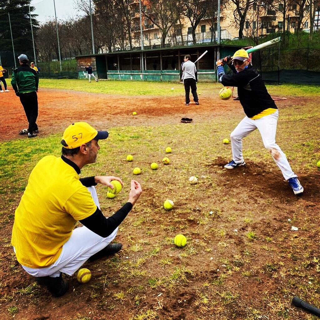 Saturday practice! 🥎💙💛 #LuxRoma #Talpe #softball #Roma #practiceday
