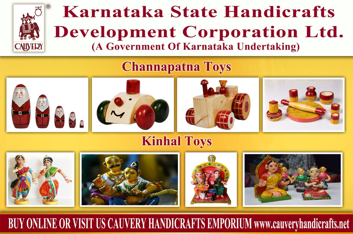KSHDL/Cauvery emporium is participating in #IndiaToyFair2021 ,that was inaugurated by honble  PM today. Our virtual booth has toys of Channapatna and Kinhal (near Koppal), both with GI tag. Its virtual. Dear all,do visit. #Vocal4LocalToys  #MakeInIndia