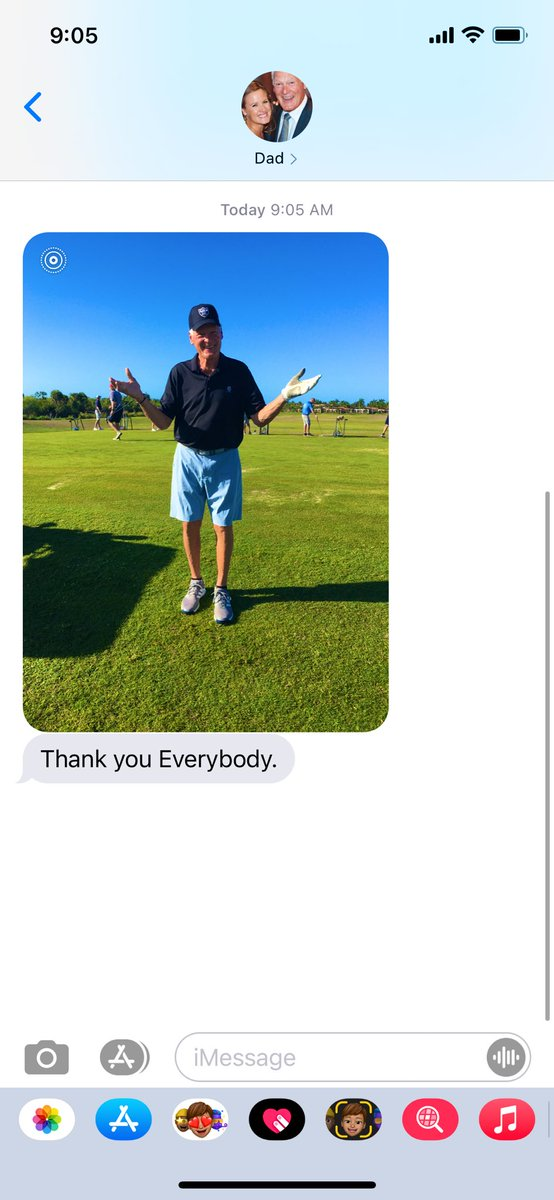 Message from Dad on his BirFday wishes from yesterday...mid-swing:  #PhilVillapiano @Raiders @BuffaloBills @BillsLegends @bgsu @BG_Football #RaiderNation #BillsMafia