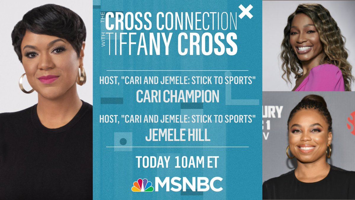 .@CariChampion and @jemelehill join The @CrossConnection today on this year's NBA All-Star game being held during a global #pandemic. @TiffanyDCross will see you all at 10 AM ET this #SaturdayMorning on @MSNBC.