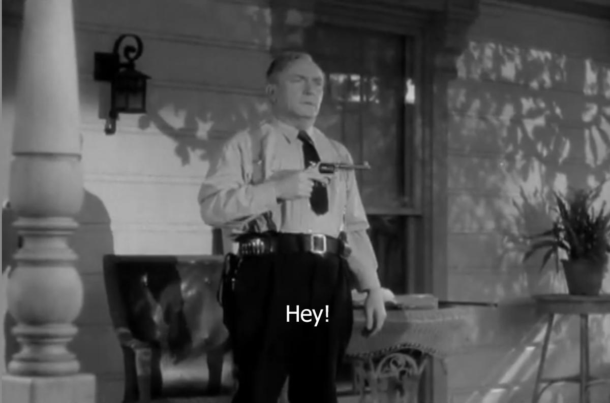 William Demarest #BOTD THE MIRACLE OF MORGAN'S CREEK – Preston Sturges, 1943  w/ Betty Hutton & Eddie Bracken #screwball #comedy #shotgunwedding  I love the touch of Constable Kockenlocker wearing his old bedroom slippers.