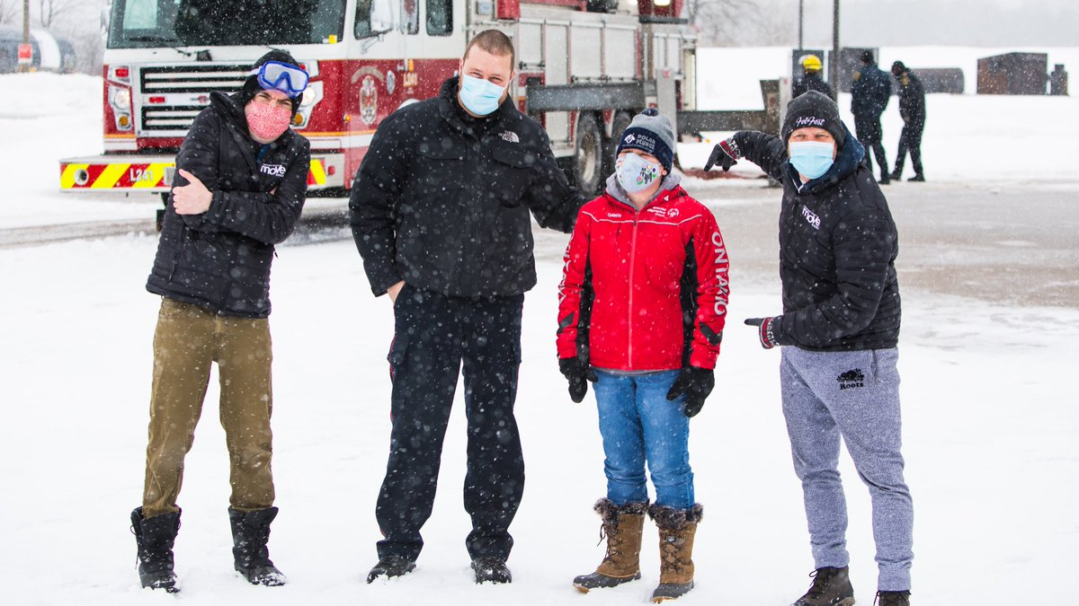 Reid and Ben: Incredible! Kingston's Dawn McMillan has now raised over $15,000 for @SOOntario after some big help from @HolyCrossCSS and @RegiNotreDame. Still two days to donate here:  #ygk #PolarPlunge