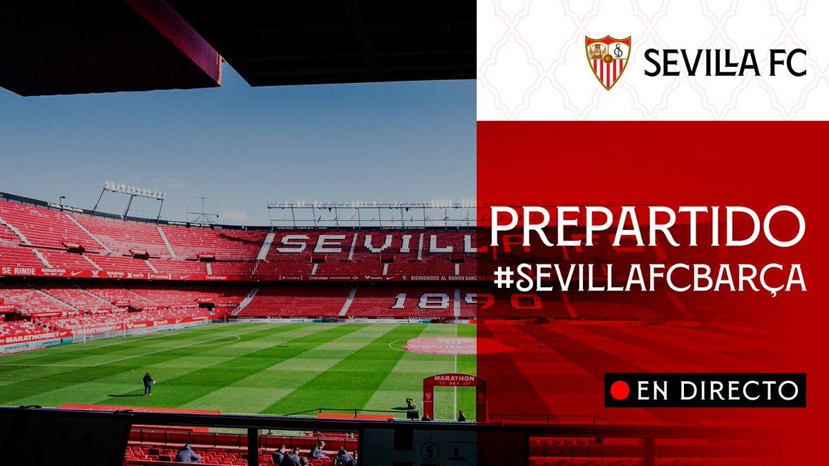 🚨 Prepartido #SevillaFCBarça 🚨 EN DIRECTO 📡    📺 https://t.co/ghWhl5hCw3 📲 https://t.co/EfeFhheZKn 💻 https://t.co/wUIbuYIDW9   #WeareSevilla #NuncaTeRindas https://t.co/woYXPaR5vh