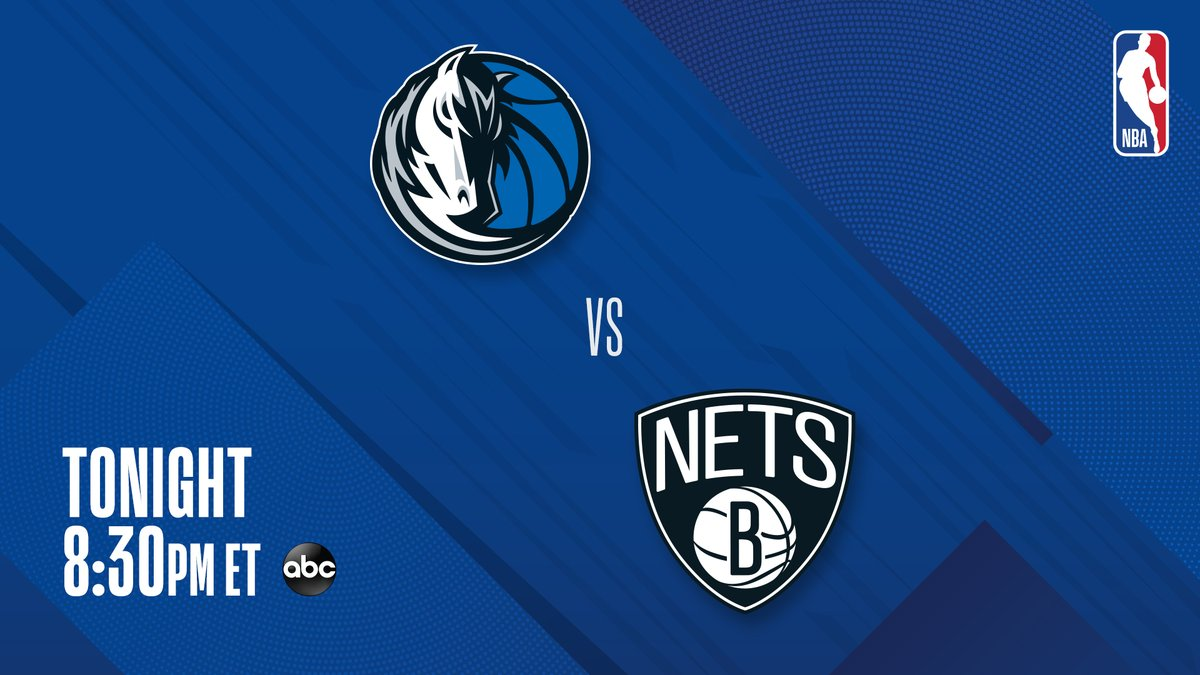 ▪️ Nets seek 9th straight W ▪️ Nets have climbed to #2 East ▪️ 3 All-Stars: Kyrie, Harden, Luka   @dallasmavs vs. @BrooklynNets TONIGHT at 8:30 PM ET for Saturday Primetime on ABC! 🍿📺 https://t.co/wMzKskkqjN