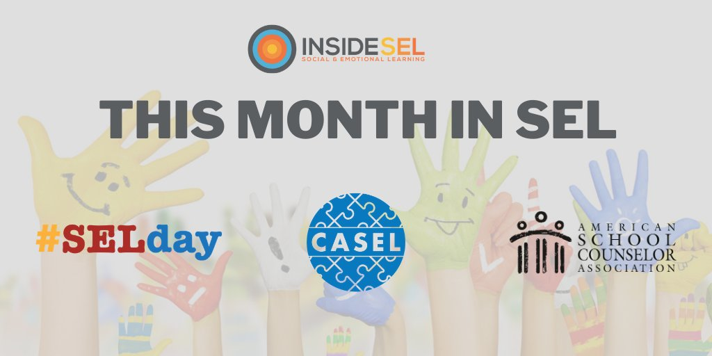 This month in #SEL: 🔹International #SELDay is less than a month away! @SEL4USA @UrbanAssembly 🔸@caselorg releases guidance for a successful second semester 🔹The pandemics impact on the role of school counselors @ASCAtweets ... and more! #wholechild insidesel.com/this-month-in-…
