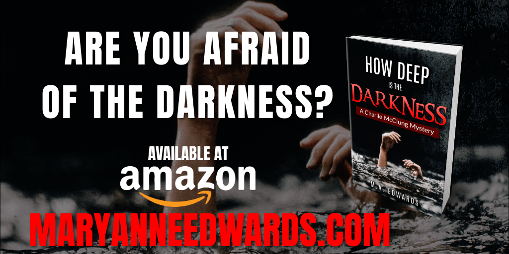 Are you afraid of the darkness?   How Deep is the Darkness by @maedwards58 is available at   #asmsg #iartg #amreading #BookBoost #booklovers #book #mystery #cozy #cozymystery