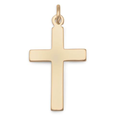 Excited to share the latest addition to my #etsy shop: Gold Cross Pendant - 14/20 Gold Filled - Religious Jewelry - Cross For Him - Cross For Her - Fine Quality Jewelry - Gift Pendant  #gold #baptism #jewelrymaking #religious #christmas #goldcros