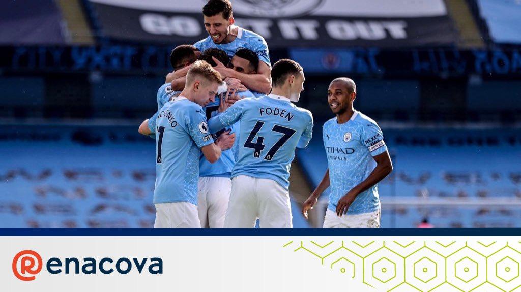 Hoy volvió a ganar el Manchester City.  Llevan 20 victorias consecutivas y no pierden desde hace más de 3 meses (27 partidos). Premier (líderes), Copa de la Liga (finalistas), #FACup (4tos) y #UCL (con pie y medio en 4tos)  Que equipazo 🔥