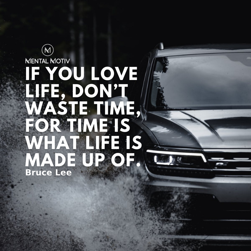 """""""If you love #life, don't waste time, for time is what life is made up of."""" —Bruce Lee  Follow @MentalMotiv for #MotivationalQuotes  #mentalmotiv #inspirationalquotes #lifequotes #quoteoftheday #quotes #qotd #positivequote #quotesworld #quotestoliveby #wordsofwisdom"""