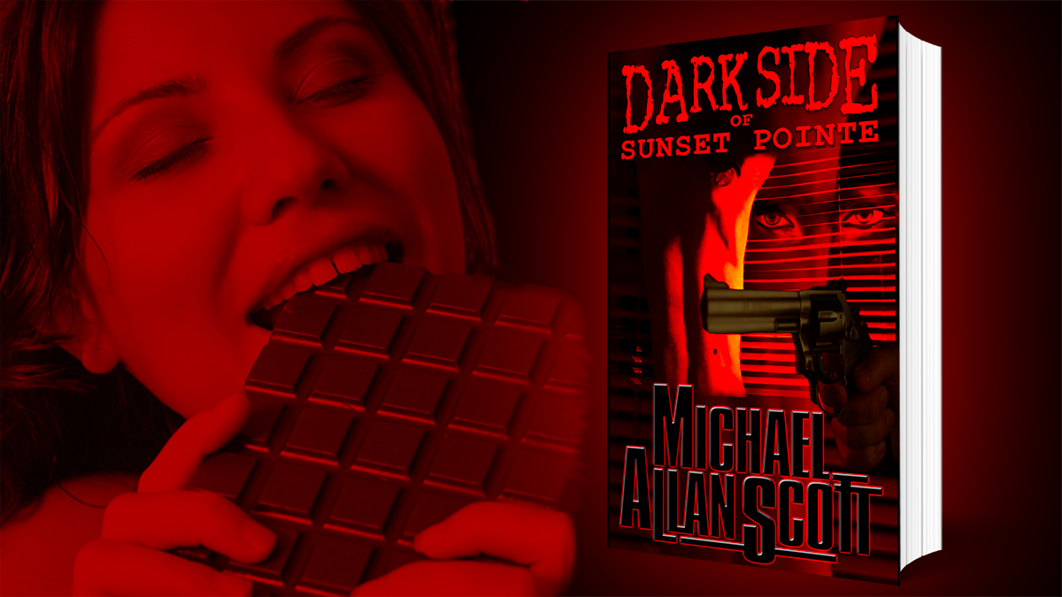 FREE E-book!  More sinful than dark chocolate, Dark Side of Sunset Pointe, a tasty mystery/thriller as seen on NBC. Rated 4+ stars by Amazon readers.  #freebook #ebook #IAN1 #IARTG