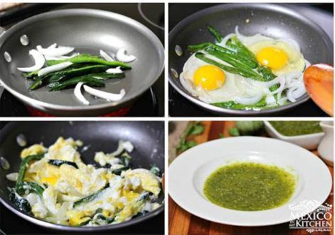 Para casi cerrar febrero, un desayuno fácil: HUEVOS CON CHILE POBLANO - ni tan picosos pero muy sabrosos!!  te dejo la receta:   #comidamexicana #mexicanfood #recipes #SaturdayMorning