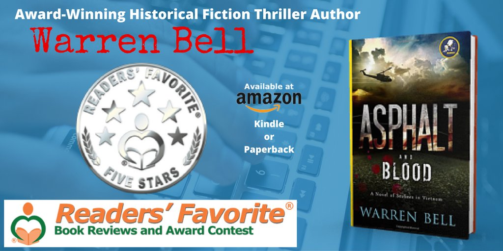 ASPHALT AND BLOOD  receives Reader's Favorite 5-Star Seal! Read the review:   #Vietnam #ASMSG #IARTG (0.6)