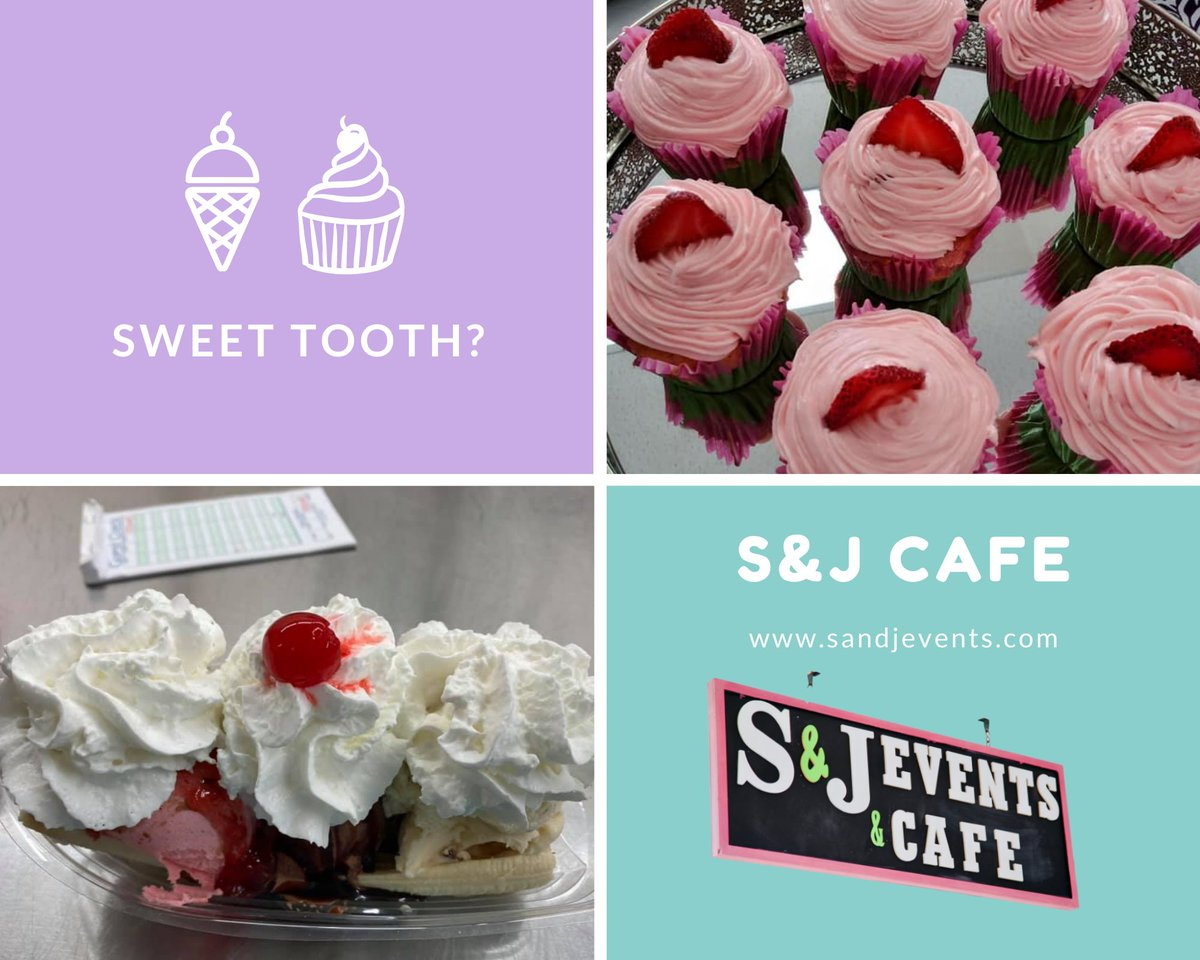 Ice cream or cupcakes... Which would you choose? Sweet Tooth Saturday. Call S&J to see what desserts we have for you this weekend! (706)-536-2637.  #sandjevents #cafe #catering #calltoday #calhounga #corporateevents #wedding #family #sweettoothsaturday